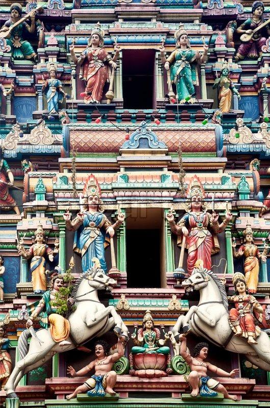 Hindu Temple At Kuala Lumpur Malaysia Religion Symbol Stock