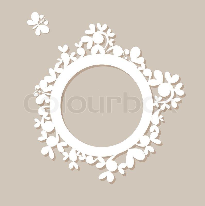 Schönes Papier Rahmen. Raster-Kopie | Stockfoto | Colourbox
