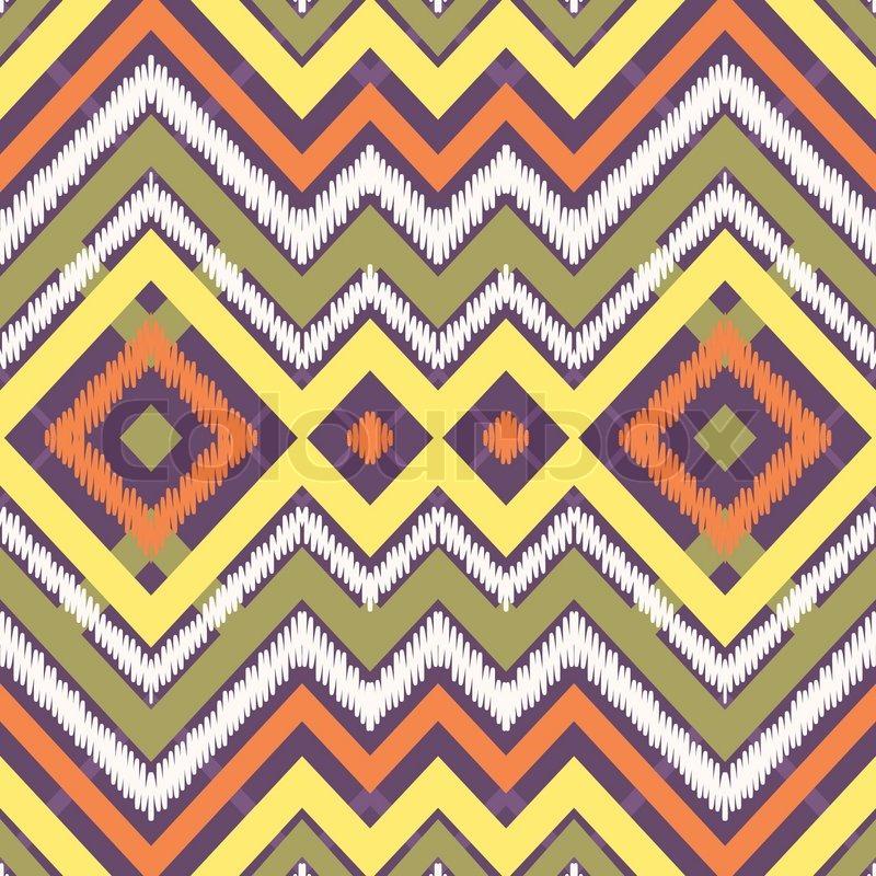 Ethnisch, chevron, muster  Vektorgrafik  Colourbox