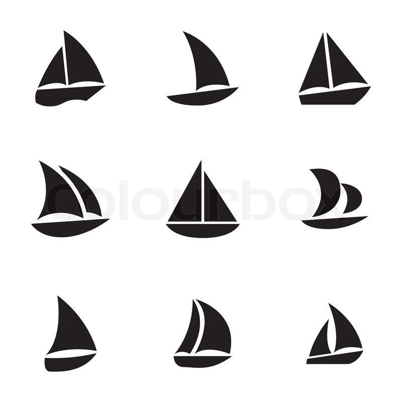 Segelboot Zeichnung Schwarz