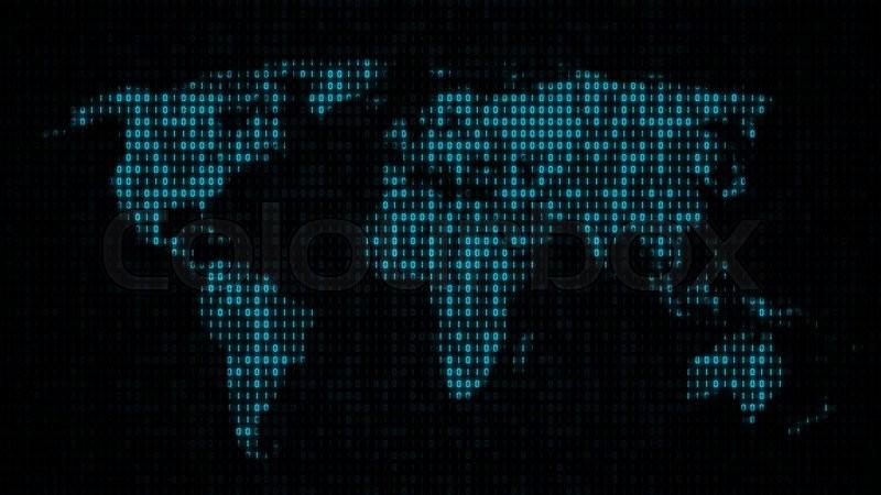 Binary code world map subtle motion background loops seamlessy binary code world map subtle motion background loops seamlessy video gumiabroncs Images