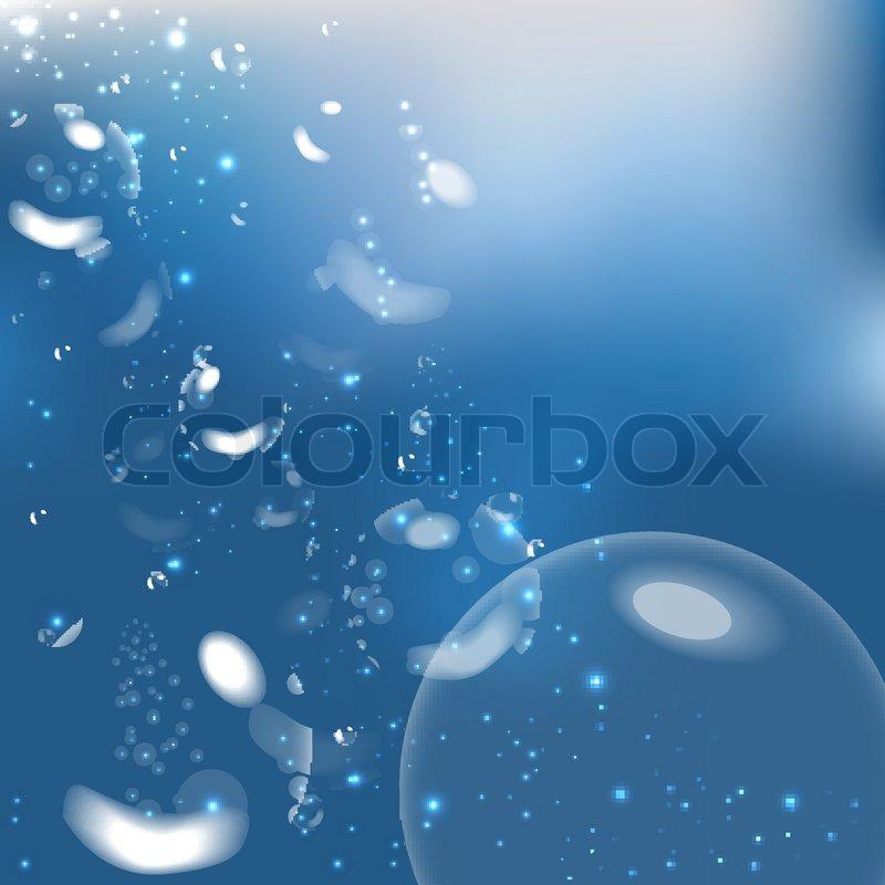 Underwater bubbles. Vector illustration   Stock Vector ...
