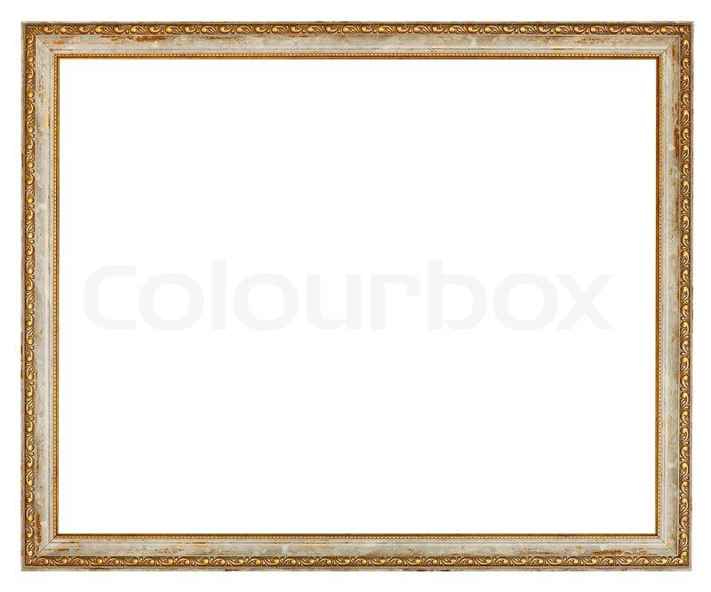 Alte schmale dekoriert Holz Bilderrahmen | Stockfoto | Colourbox
