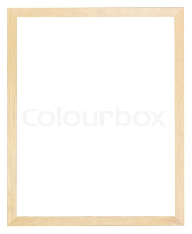 Modern flat narrow simple light wood picture frame with cut out ...