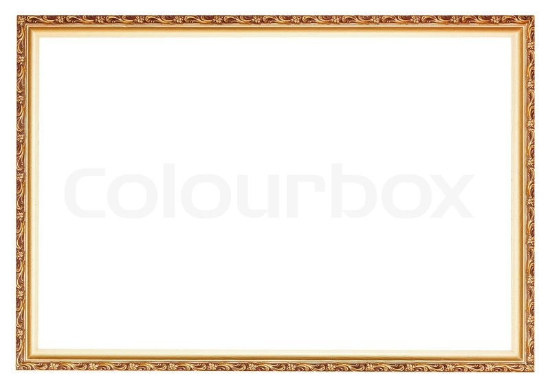 schmale geschnitzte alte gold holz bilderrahmen stockfoto colourbox. Black Bedroom Furniture Sets. Home Design Ideas