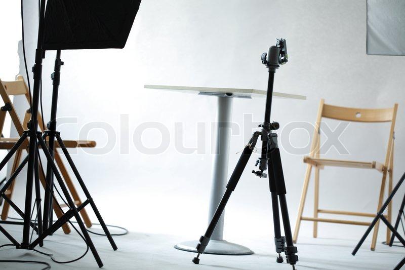 Photo of my studio stage - all my decor, stock photo