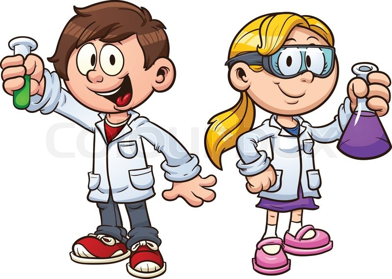 scientist kids vector clip art illustration with simple gradients rh colourbox com science clipart for teachers science clipart free