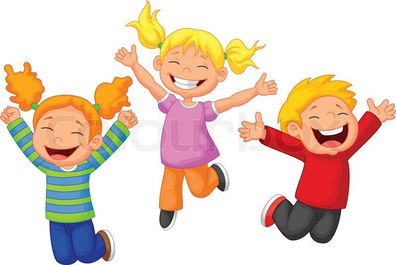 Vector Illustration Of Happy Kid Cartoon Stock Vector