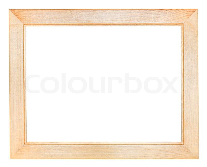flach breit holz bilderrahmen stockfoto colourbox. Black Bedroom Furniture Sets. Home Design Ideas
