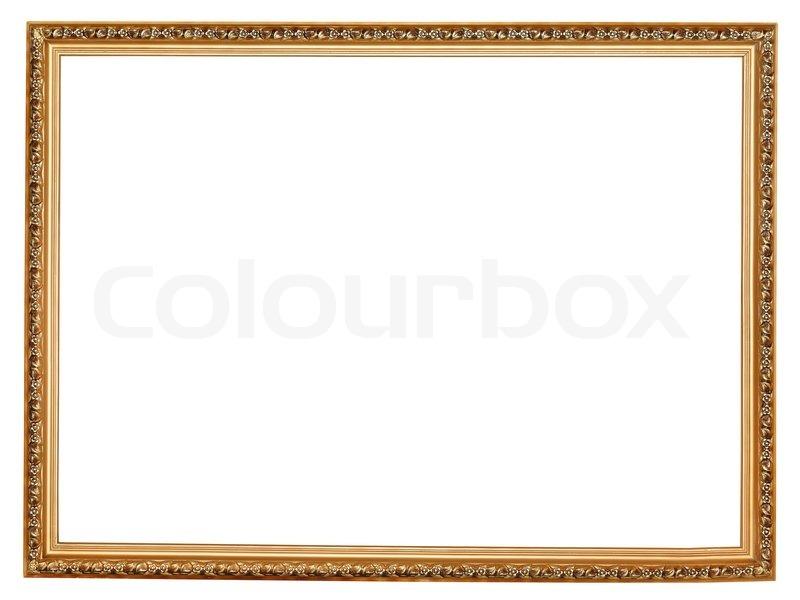 Schmale goldene geschnitzte hölzerne Bilderrahmen | Stockfoto ...