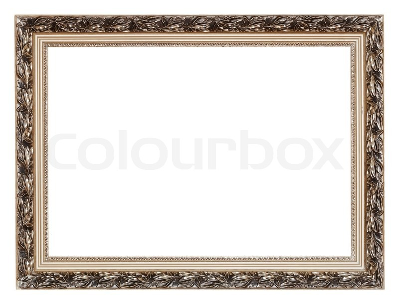 vintage breit silber geschnitzt holz bilderrahmen stockfoto colourbox. Black Bedroom Furniture Sets. Home Design Ideas