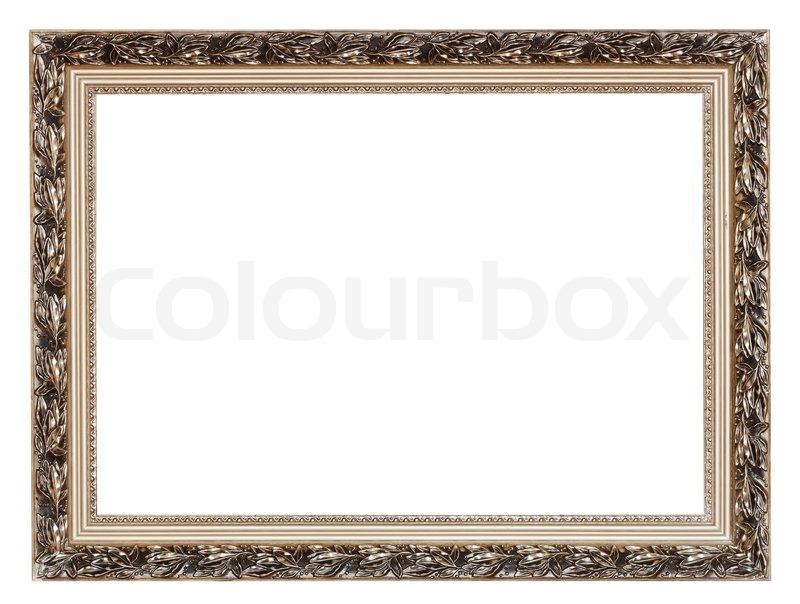 Bilderrahmen Holz FUr Leinwand ~   breit Silber geschnitzt Holz Bilderrahmen  Stock Foto  Colourbox