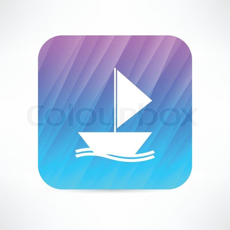 Boat icon | Stock Vector | Colourbox