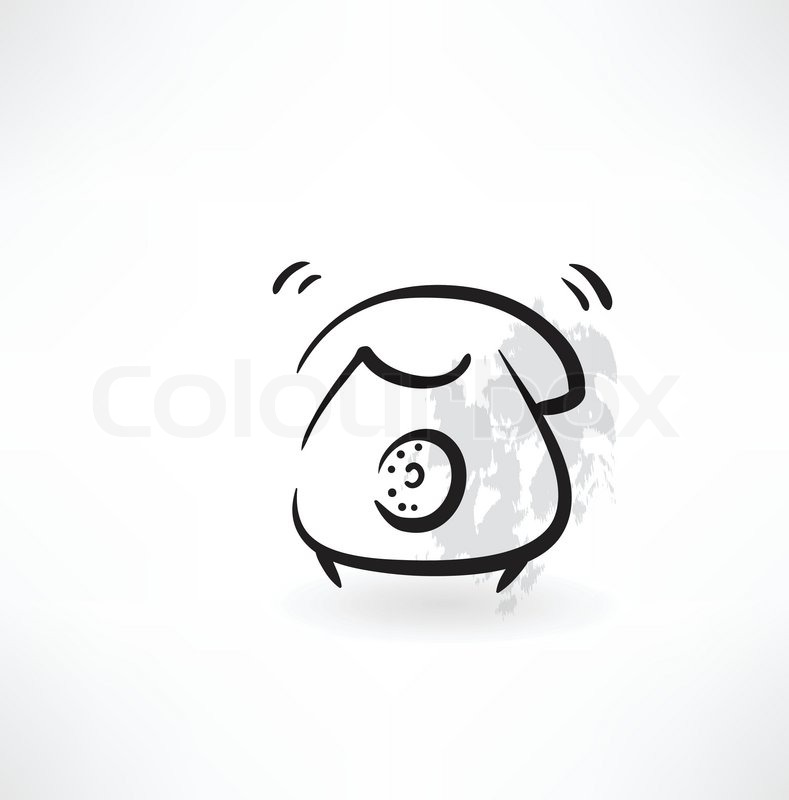 Old telephone grunge icon | Stock vector | Colourbox