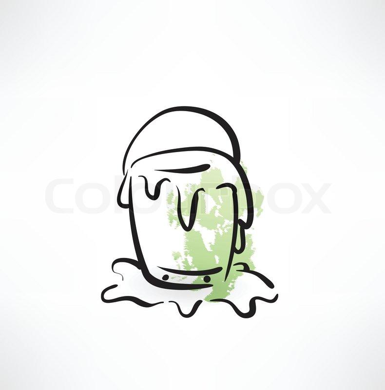 Paint Bucket Vector Paint Bucket Grunge Icon Vector