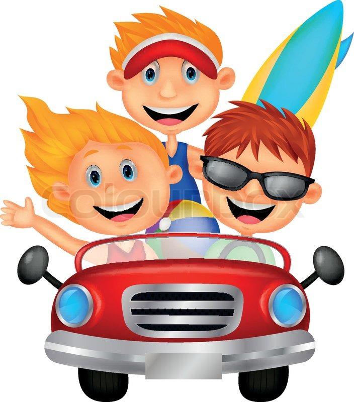 Little Kids Driving Cars