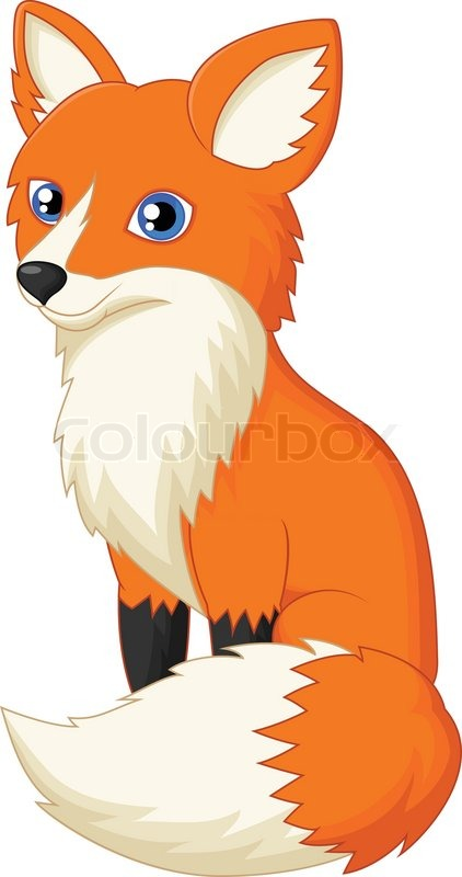 vector illustration of cute fox cartoon stock vector coyote clipart transparency coyote clipart image