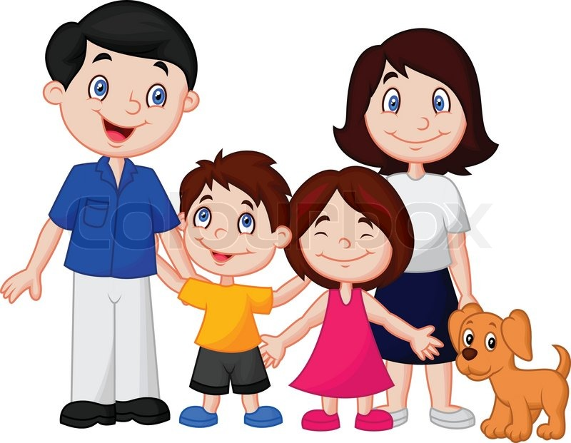 vector illustration of happy family cartoon stock vector