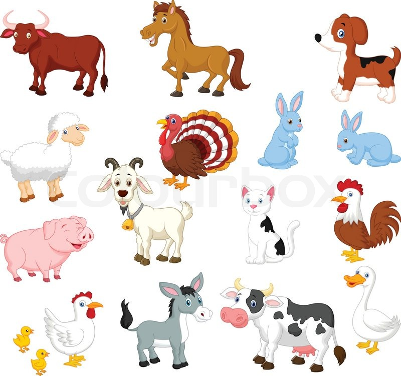 vector illustration of farm animal cartoon collection set roster clip art rooster clip art free