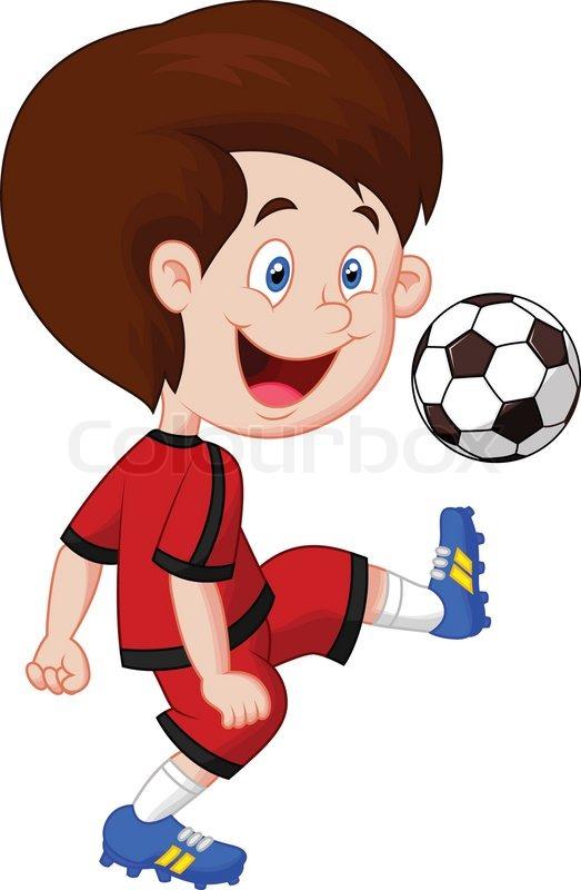 quot junge cartoon fu u00dfball spielen quot  vektorgrafik colourbox american football cartoon clipart american football cartoon clipart