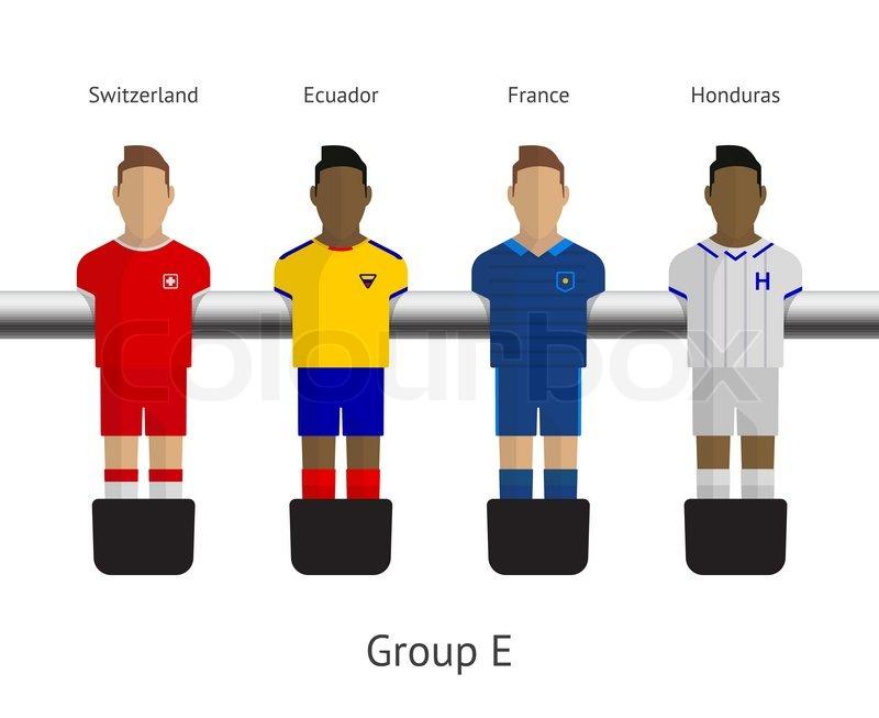 Table Football, Soccer Players. Group E