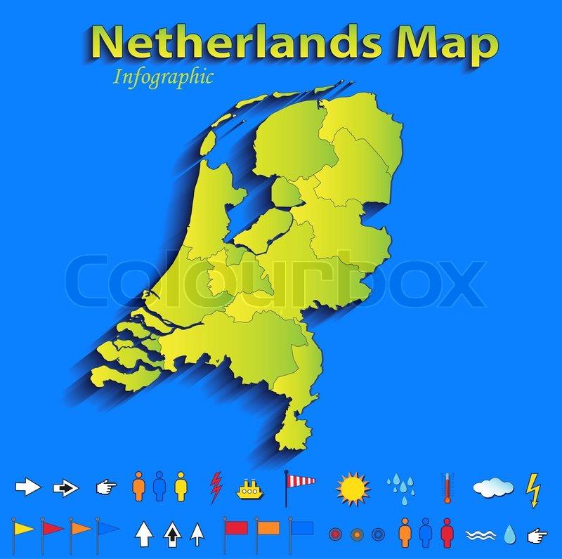 Niederlande Karte Umriss.Niederlande Holland Karte Infographik Stock Bild Colourbox