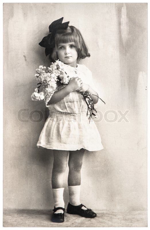 Germany Berlin Circa 1920 Old Photo Portrait Of Little