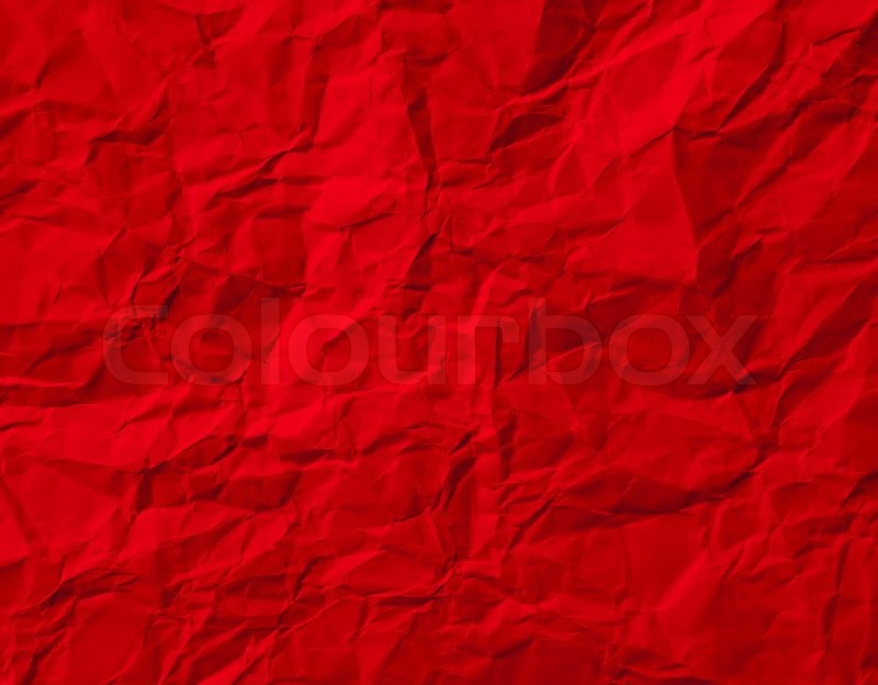 Red Crumpled Paper Texture | Stock Photo | Colourbox