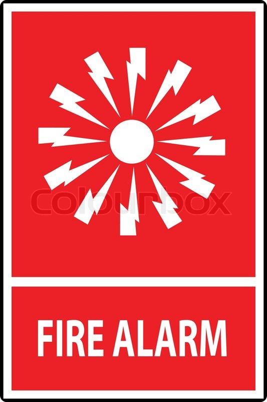 Fire Alarm Emergency Signs And Symbolsctor Illustration Stock