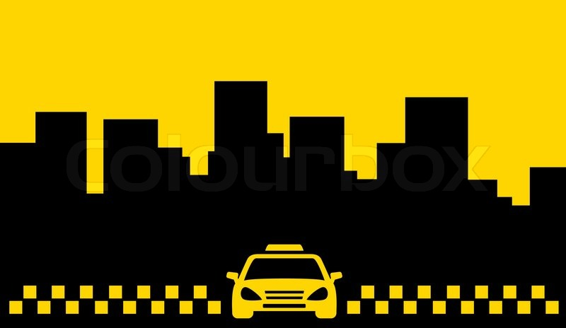 yellow taxi backdrop