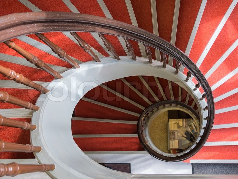 Spiral stairs, stock photo