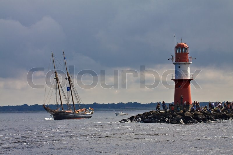 Tall ship on the Baltic Sea, stock photo