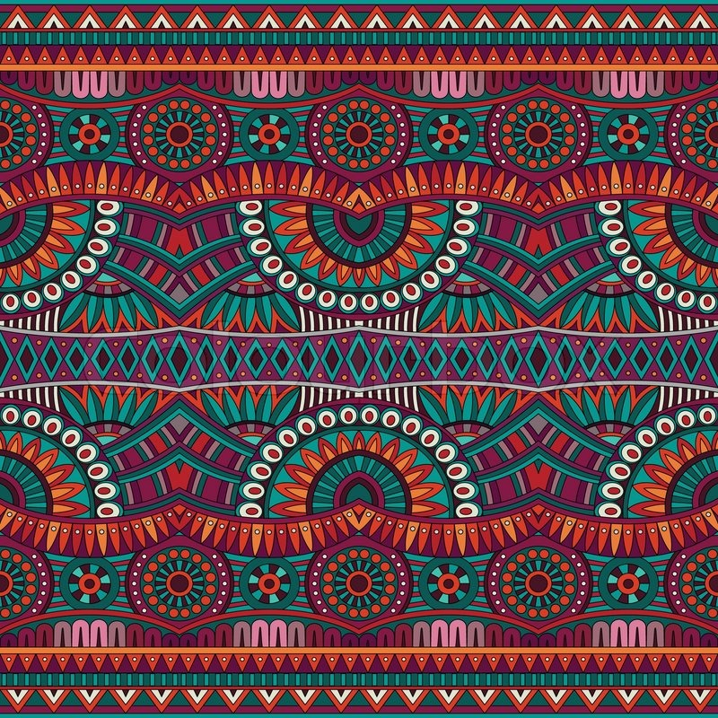 abstract vector tribal ethnic background seamless pattern stock