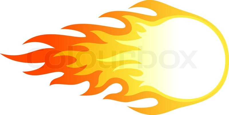 illustration of ball in fire for your designs stock vector rh colourbox com fire vector free download fire vector tutorial