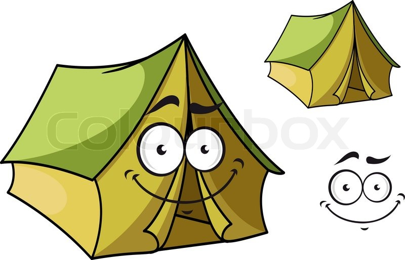 Fun cartoon tent with a happy smiling face and toothy grin isolated on white for tourism industry design vector  sc 1 st  Colourbox & Fun cartoon tent with a happy smiling face and toothy grin ...