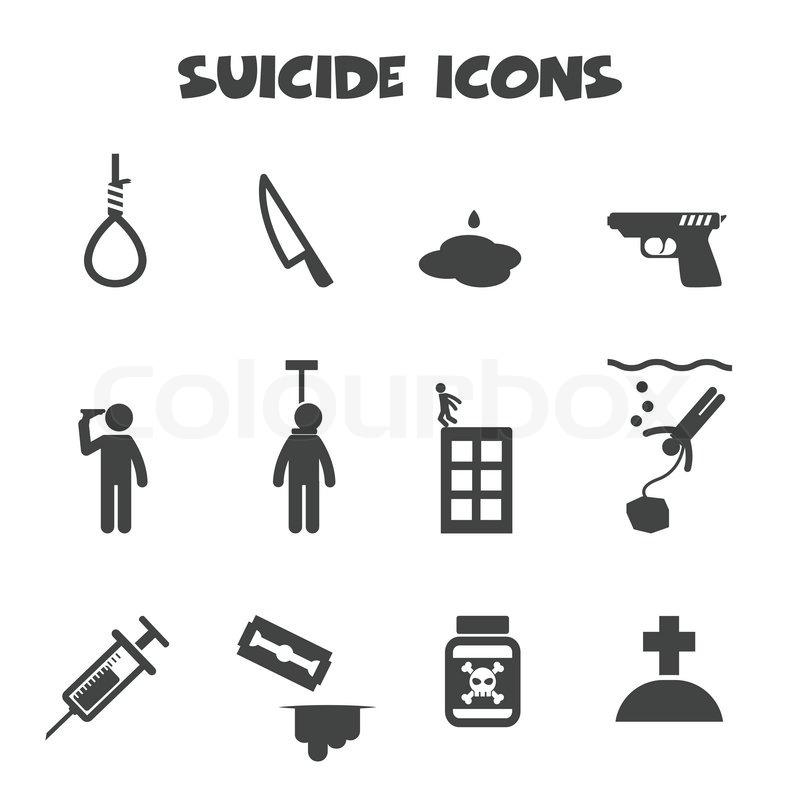Selbstmord-Symbole | Vektorgrafik | Colourbox