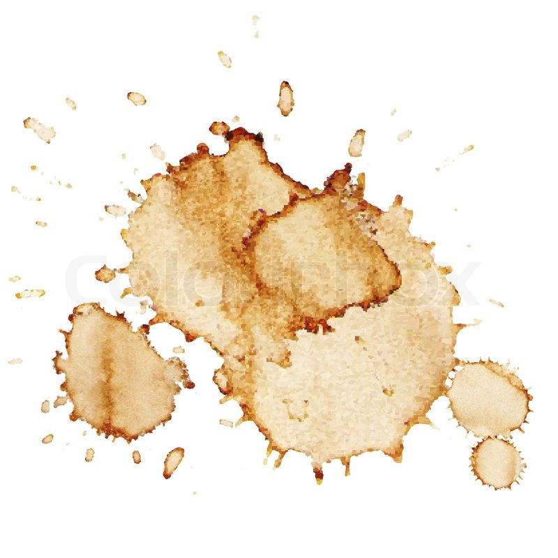 Coffee Stains Isolated On White Background Vector Illustration