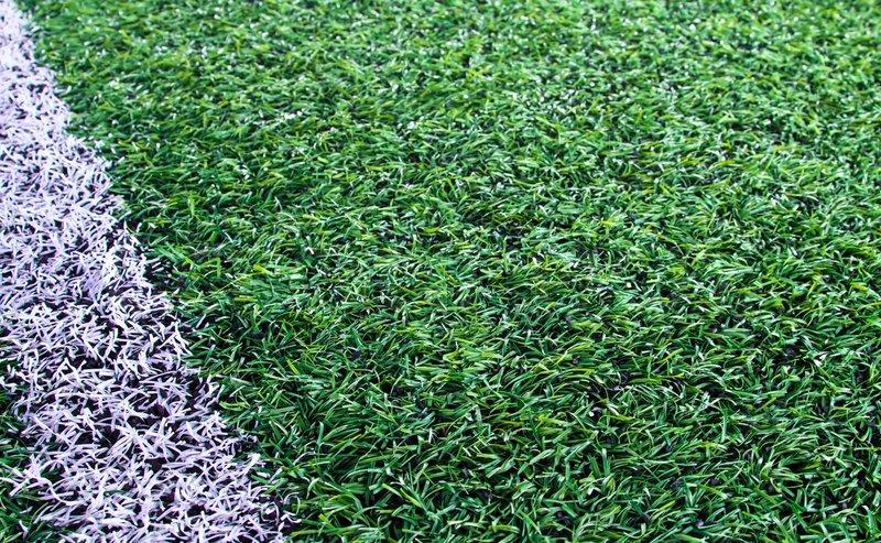 grass soccer field. Green Artificial Grass Soccer Field For Background | Stock Photo Colourbox