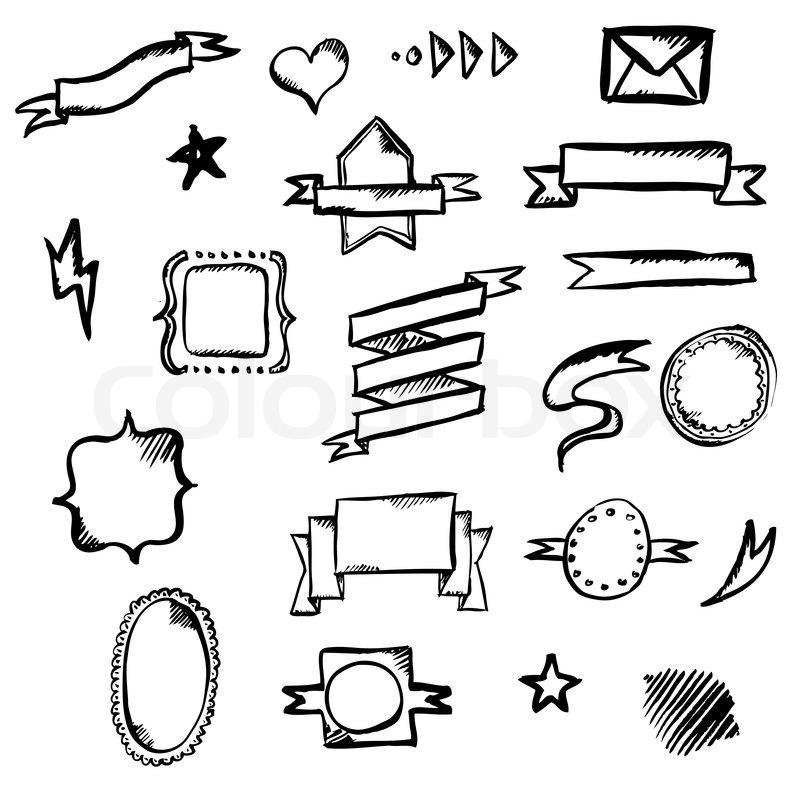 Hand Draw Symbols Vector Illustration Stock Vector Colourbox