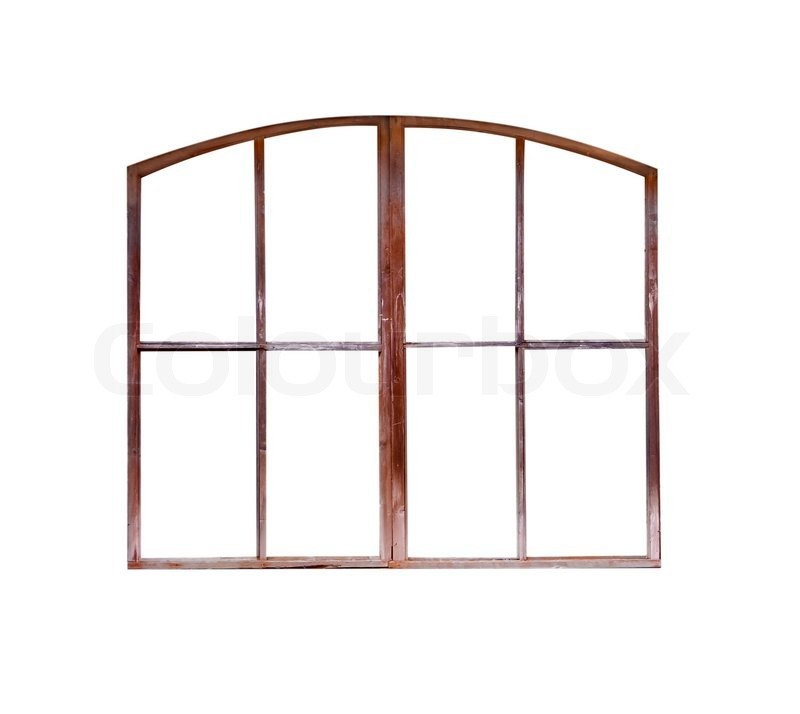 old window frame isolated | Stock Photo | Colourbox