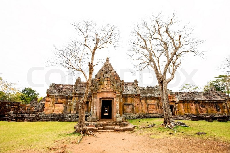 The ancient temple has a beautiful cultural attractions, stock photo