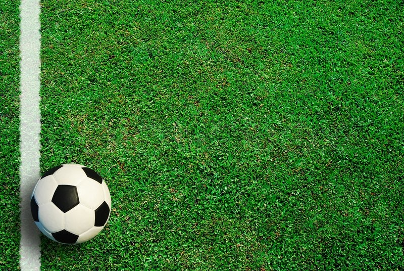Soccer ball football sport for play game and for text and message design, stock photo