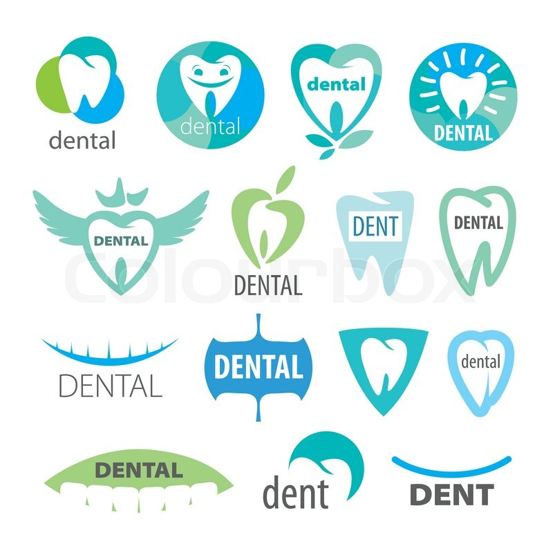 biggest collection of vector logos dentistry stock vector colourbox