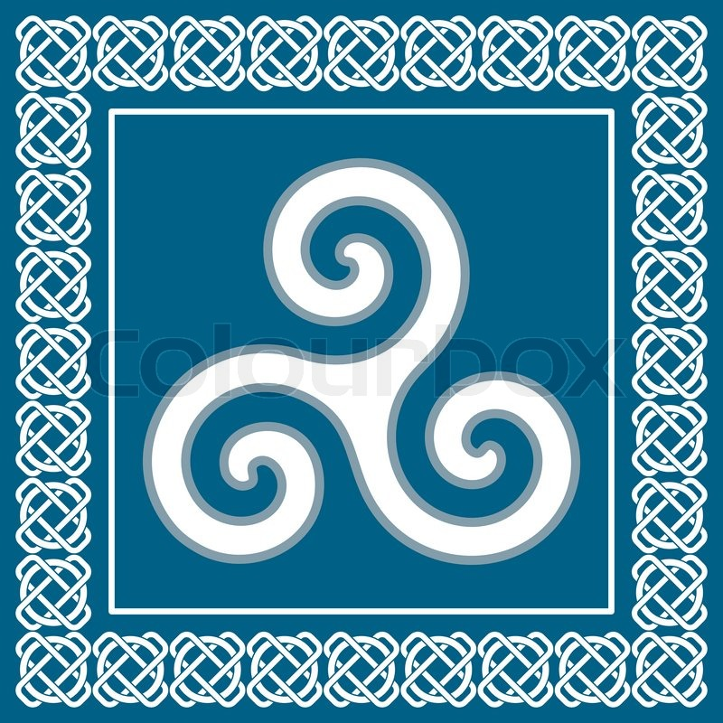 Ancient Symbol Triskelion Or Triskele Traditional Element Typical