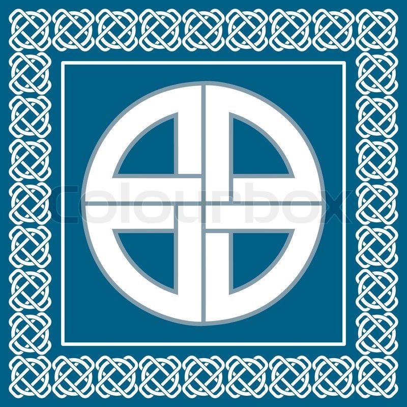 alte keltische knoten symbol des schutzes von wikinger. Black Bedroom Furniture Sets. Home Design Ideas