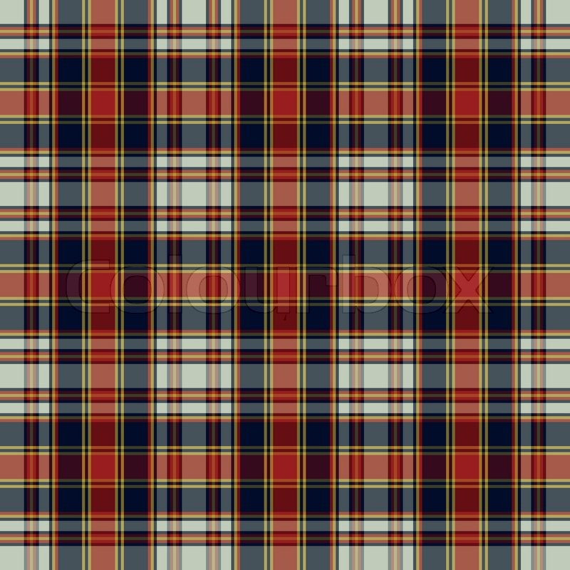 Tartan Traditional Checkered British Fabric Seamless