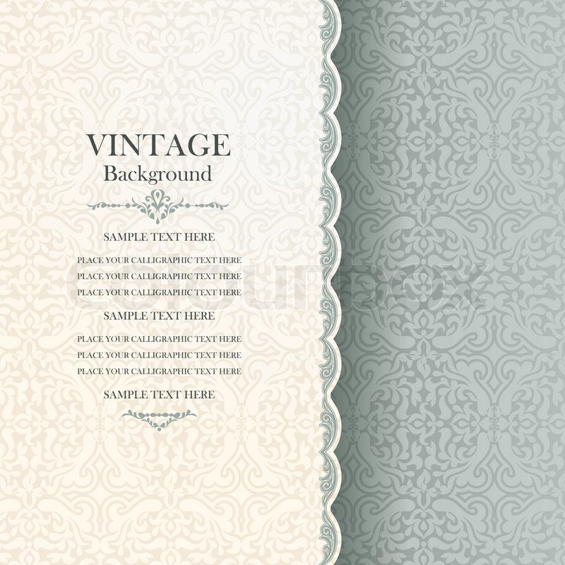 Vintage background, antique greeting ... | Stock Vector ...