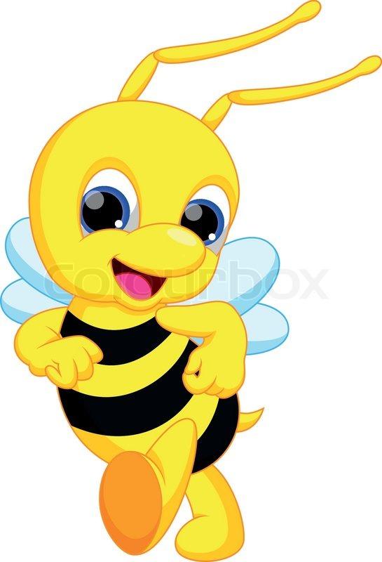 Funny Bee Cartoon Stock Vector Colourbox