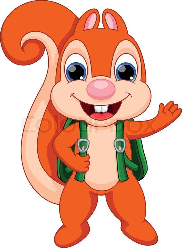 funny squirrel cartoon stock vector colourbox