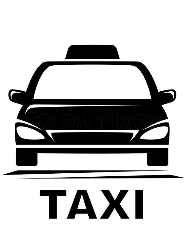 black taxi sign on white background stock vector colourbox. Black Bedroom Furniture Sets. Home Design Ideas